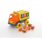 Детский логический грузовичок Миффи с 6 кубиками №1. Арт. 64394 Полесье