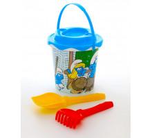 Детская игрушка песочный набор Смурфики: Затерянная деревня-3 набор №1. Арт. 64950 Полесье