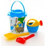 Песочный набор детский Смурфики: Затерянная деревня-3 набор №2. Арт. 64967 Полесье
