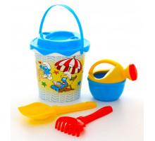 Детская игрушка песочный набор Смурфики-1 набор №2. Арт. 65124 Полесье