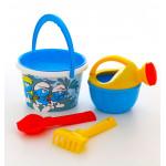 Детские игрушки для песочницы с ведерком  Смурфики: Затерянная деревня-6 набор №2. Арт. 65087 Полесье