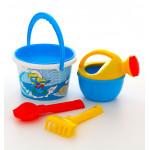 Игрушки для дачи в песочнице Смурфики-3 набор №2. Арт. 65209 Полесье