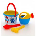 Детские игрушки для песочницы с ведерком Смурфики-4 набор №2. Арт. 65247 Полесье