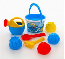 Набор формочек и ведерко для детской песочницы Смурфики-3 набор №3. Арт. 65216 Полесье