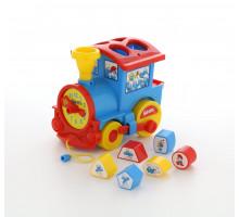 Развивающая игрушка логический паровозик Смурфики с 6 кубиками №1. Арт. 64356 Полесье