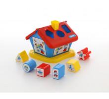 Детская развивающая игрушка логический домик Смурфики с 6 кубиками №1. Арт. 64417 Полесье