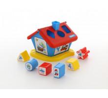 Развивающая игрушка логический домик Смурфики с 6 кубиками №2. Арт. 64424 Полесье
