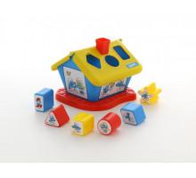 Развивающая игра логический домик Смурфики с 6 кубиками №3. Арт. 64431 Полесье