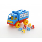 Детская игрушка логический грузовичок Смурфики с 6 кубиками №1. Арт. 64370 Полесье