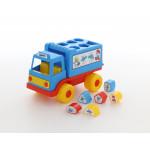Игрушка для малышей логический грузовичок Смурфики с 6 кубиками №2. Арт. 64387 Полесье