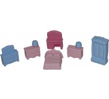 Детский набор  мебели для кукол №1 (6 элементов) (в пакете) арт. 49322. Полесье