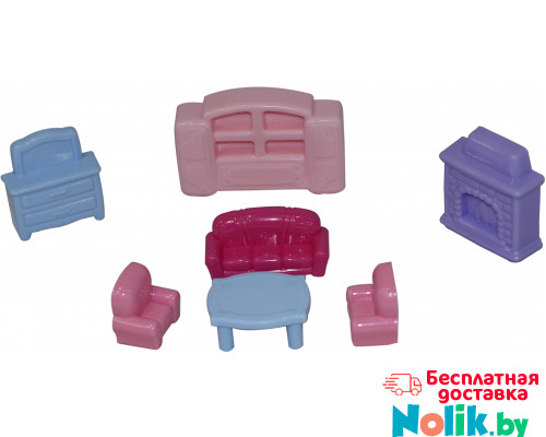 Детский игровой набор  мебели для кукол №2 (7 элементов) (в пакете) арт. 49339. Полесье в Минске