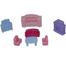 Детский игровой набор  мебели для кукол №2 (7 элементов) (в пакете) арт. 49339. Полесье