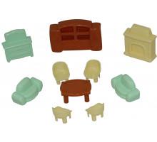 Детский набор  мебели для кукол №3 (10 элементов) (в пакете) арт. 49346. Полесье