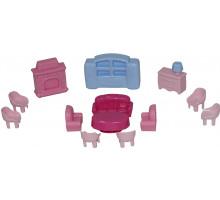 Набор мебели для кукол №4 (13 элементов) (в пакете) арт. 49353. Полесье