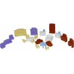 Детский игровой набор   мебели для кукол №5 (21 элемент) (в пакете) арт. 49360. Полесье