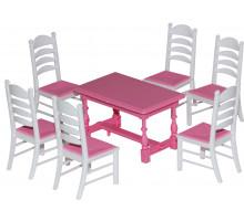 Набор мебели для кукол №6 (7 элементов) (в пакете) арт. 54395. Полесье