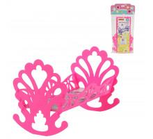 Кроватка-качалка сборная для кукол (в пакете) розовый арт. 56665. Полесье