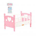 Кроватка сборная для кукол №2 (5 элементов) (в пакете) цвет розовый арт. 62048. Полесье