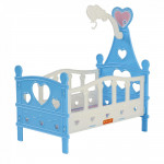 Кроватка для кукол №3 (6 элементов) цвет голубой (в пакете) арт. 62055. Полесье