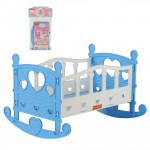 Детская кроватка-качалка для кукол №2 (7 элементов) (в пакете) голубой арт. 62062. Полесье