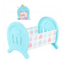Кроватка для кукол большая (в пакете) цвет бирюза арт. 55996. Полесье