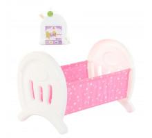 Большая кроватка для кукол (в пакете) цвет белый арт. 55996. Полесье