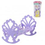 Кроватка-качалка для кукол (в пакете) сиреневый арт. 56665. Полесье