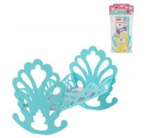Детская кроватка-качалка сборная для кукол (в пакете) бирюзовый арт. 56665. Полесье