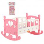 Детская кроватка-качалка для кукол №2 (7 элементов) (в пакете) розовый арт. 62062. Полесье