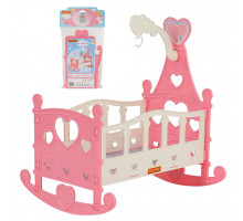 Кроватка-качалка для кукол №3 (8 элементов) (в пакете) цвет розовый арт. 62079. Полесье