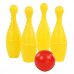 """Игрушка для детей кегли """"Чемпион"""", 4 штуки арт. 55453. Полесье"""