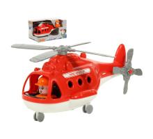 """Детская игрушка Вертолёт пожарный """"Альфа"""" (в коробке) арт. 68651. Полесье"""