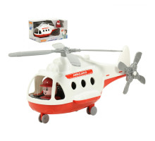 """Игрушка для детей Вертолёт - скорая помощь """"Альфа"""" (в коробке) арт. 68668. Полесье"""