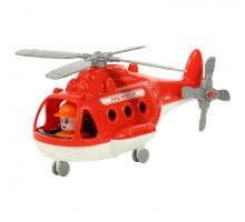 """Вертолёт игрушечный детский пожарный """"Альфа"""" (в сеточке) арт. 72382. Полесье"""