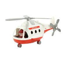 """Игрушка для детей Вертолёт - скорая помощь """"Альфа"""" (в сеточке) арт. 72399. Полесье"""