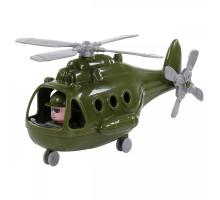 """Детская игрушка Вертолёт военный """"Альфа"""" (в сеточке) арт. 72436. Полесье"""