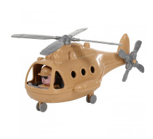 """Игрушка для детей Вертолёт военный """"Альфа-Сафари"""" (в сеточке) арт. 72467. Полесье"""
