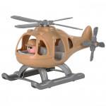 """Детский игрушечный Вертолёт военный """"Гром-Сафари"""" (в сеточке) арт. 72351. Полесье"""
