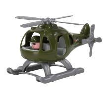 """Игрушка для детей Вертолёт военный """"Гром"""" (в сеточке) (РБ) арт. 72337. Полесье"""