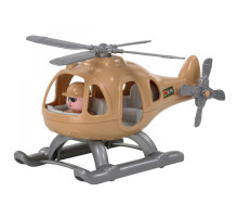"""Детский игрушечный Вертолёт военный """"Гром-Сафари"""" (в сеточке) (РБ) арт. 72368. Полесье"""