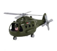 """Детский игрушечный Вертолёт военный """"Альфа"""" (в сеточке) (РБ) арт. 72443. Полесье"""