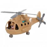 """Детский игрушечный Вертолёт военный """"Альфа-Сафари"""" (в сеточке) арт. 72481. Полесье"""