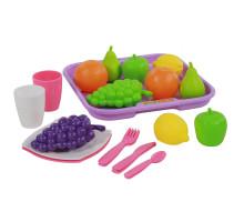 Набор продуктов №2 с посудкой и подносом (21 элемент) (в сеточке) арт. 46970. Полесье