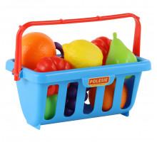 Набор продуктов с корзинкой №2 (9 элементов) (в сеточке) арт. 46963. Полесье