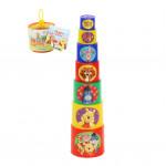 Детская развивающая игрушка пирамидка Disney Винни и его друзья (в сеточке). Арт. 76069 Полесье