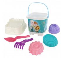 Набор игрушек для девочки Полесье для игры в песочнице Disney «Холодное сердце» №17. Арт. 65773