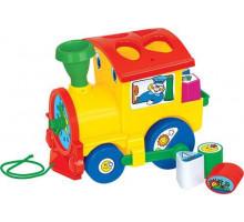 Детская каталка Полесье «Занимательный паровоз» (в сеточке) CAVALLINO. Арт. 6189