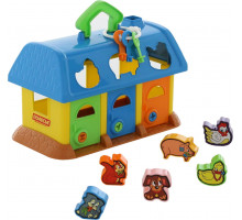 Сортер детский домик для зверей (в сеточке). Арт. 9166 Полесье