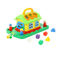 Сказочный домик-сортер на лужайке (в сеточке). Арт. 48752 Полесье